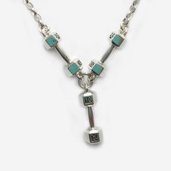 10kg Triple Dumbbell Necklace
